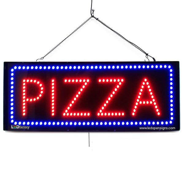 Pizza - Large LED Window Sign (#2688) - Led Open Signs