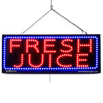 Large LED Window Sign - Fresh Juice - 32 inches Wide - LED-Factory (#2690) - Led Open Signs