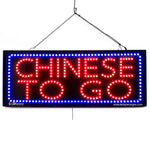 Chinese to Go - Large LED Window Sign (#2695) - Led Open Signs