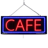 Cafe - Large LED Window Sign (#2696) - Led Open Signs