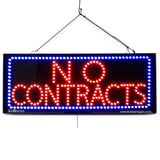 No Contracts - Large LED Window Sign (#2697) - Led Open Signs