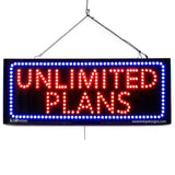 Unlimited Plans - Large LED Window Sign (#2698) - Led Open Signs