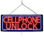 Large LED Window Sign - Cellphone Unlock - 32 inches Wide - LED-Factory (#2700) - Led Open Signs
