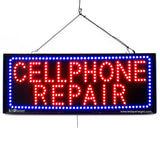 Cellphone Repair - Large LED Window Sign (#2702) - Led Open Signs