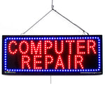 Computer Repair - Large LED Window Sign (#2704) - Led Open Signs