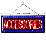 Large LED Window Sign - Accessories - 32 inches Wide - LED-Factory (#2707) - Led Open Signs