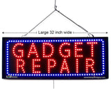Gadget Repair - Large LED Window Sign (#2708) - Led Open Signs