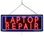 Laptop Repair- Large LED Window Sign (#2710) - Led Open Signs