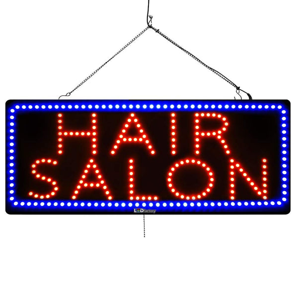 Large LED Window Sign - Hair Salon - 32 inches Wide - LED-Factory (#2718) - Led Open Signs
