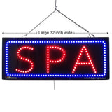 SPA - Large LED Window Sign (#2719) - Led Open Signs