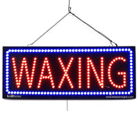Large LED Window Sign - Waxing - 32 inches Wide - LED-Factory (#2720) - Led Open Signs