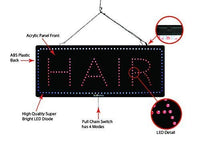 Hair - Large LED Window Sign (#2723) - Led Open Signs