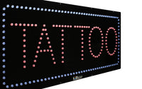 Tattoo - Large LED Window Sign (#2727) - Led Open Signs