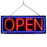 Large LED Window Sign - Open - 32 inches Wide - LED-Factory (#2729) - Led Open Signs