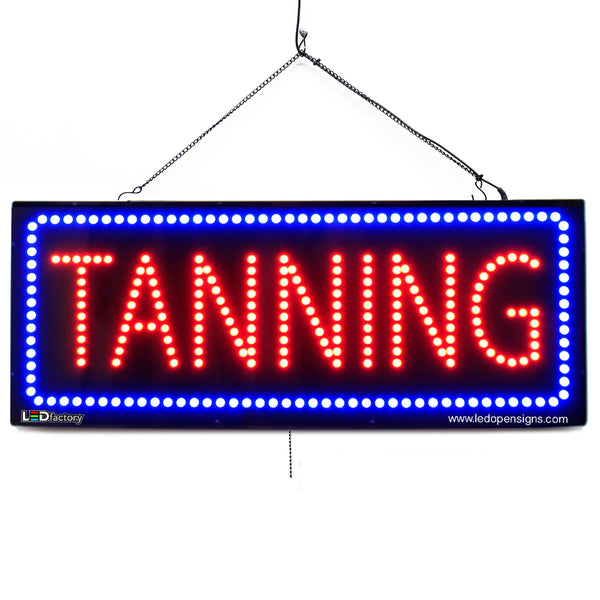 Tanning - Large LED Window Sign (#2731) - Led Open Signs