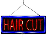 Hair Cut - Large LED Window Sign (#2737) - Led Open Signs
