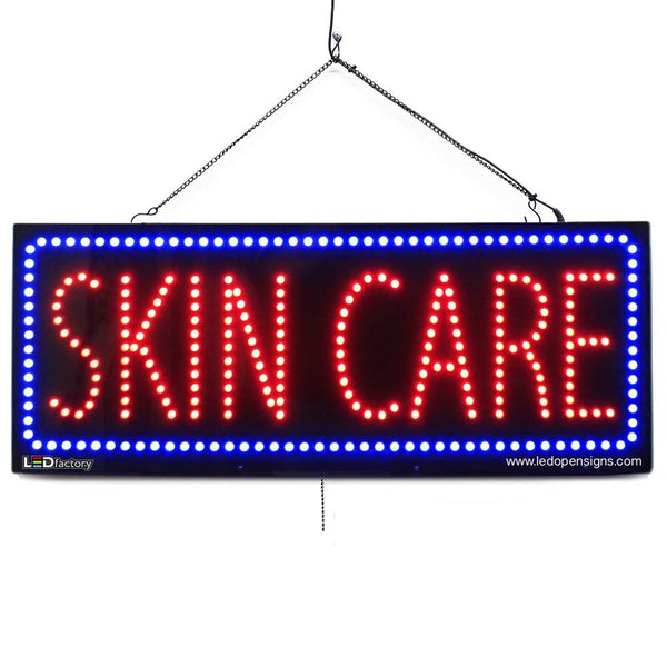 Skin Care - Large LED Window Sign (#2738) - Led Open Signs