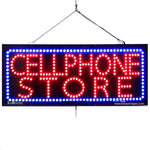 Cellphone Store - Large LED Window Sign (#2756) - Led Open Signs