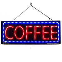 Coffee - Large LED Window Sign (#2757) - Led Open Signs