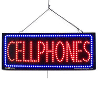 Large LED Window Sign - Cellphone - 32 inches Wide - LED-Factory (#2759) - Led Open Signs