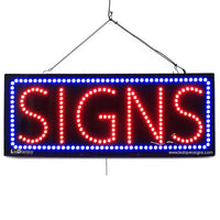 Signs - Large LED Window Sign (#2760) - Led Open Signs