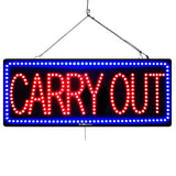 Carry Out - Large LED Window Sign (#3053) - Led Open Signs
