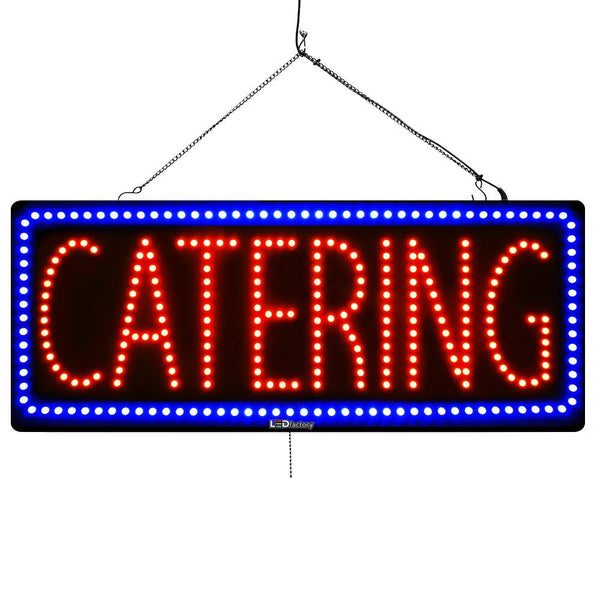Catering - Large LED Window Sign (#3054) - Led Open Signs