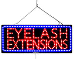 Large LED Window Sign - Eyelash Extensions - 32 inches Wide - LED-Factory (#3193) - Led Open Signs