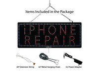 Iphone Repair - Large LED Window Sign (#935) - Led Open Signs