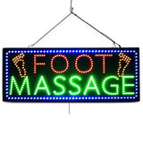 Large LED Window Sign - Foot Massage with Feet - 32 inches Wide - LED-Factory (#992) - Led Open Signs
