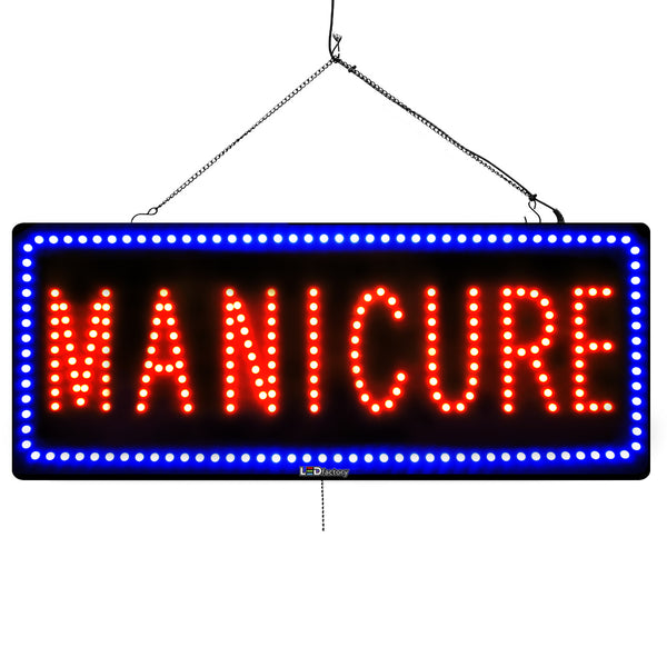 Manicure - Large LED Window Sign (#1872) - Led Open Signs