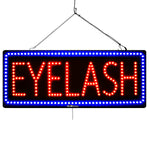Eyelash - Large LED Window Sign (#2725)