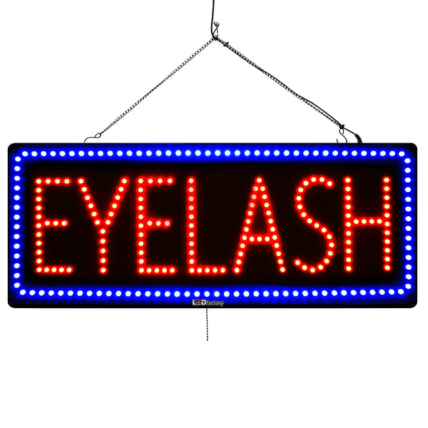 Eyelash - Large LED Window Sign (#2725) - Led Open Signs