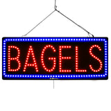 Bagels - Large LED Window Sign (#2997) - Led Open Signs