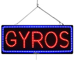 Gyros - Large LED Window Sign (#3060) - Led Open Signs