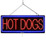 Hot Dogs - Large LED Window Sign (#3062) - Led Open Signs