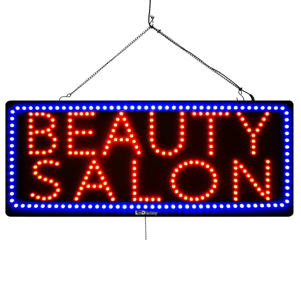 Beauty Salon - Large LED Window Sign (#3072) - Led Open Signs