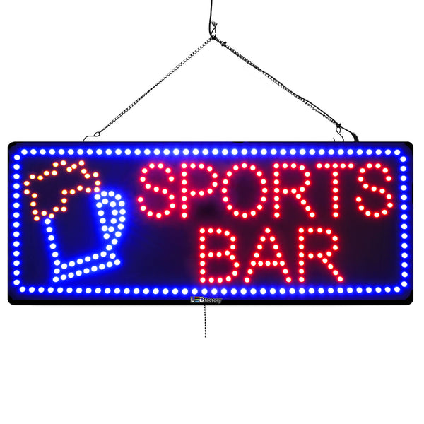 Sports Bar- Large LED Window Sign (#945) - Led Open Signs