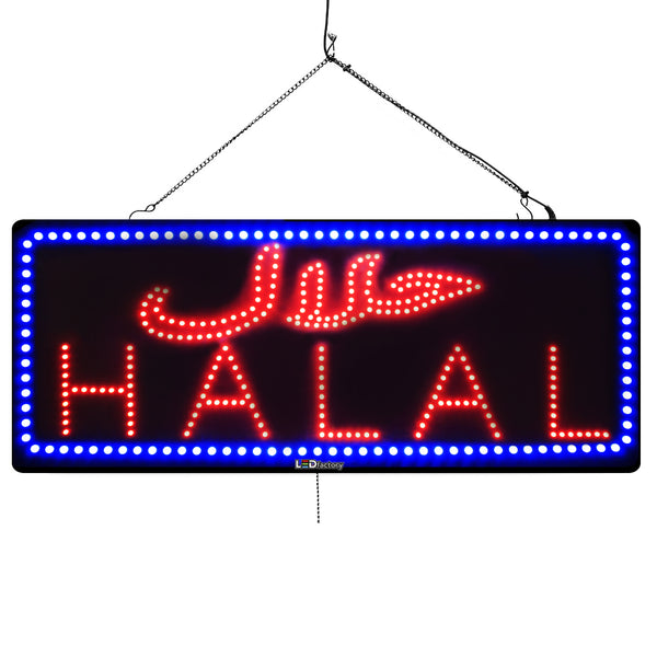 Halal - Large LED Window Sign (#953) - Led Open Signs