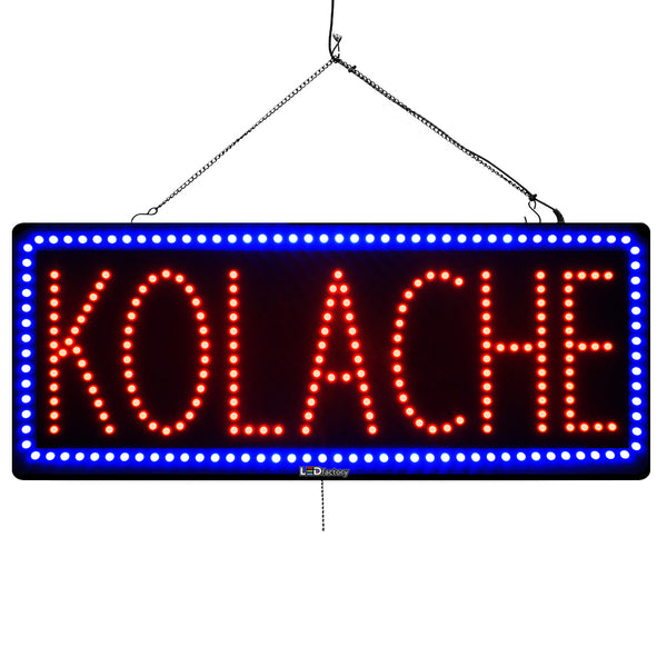 Koloache - Large LED Window Sign (#956) - Led Open Signs