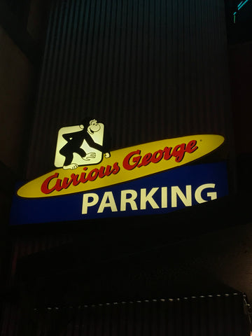 curious george parking universal studios hollywood