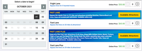 friday fast lane cost kings island