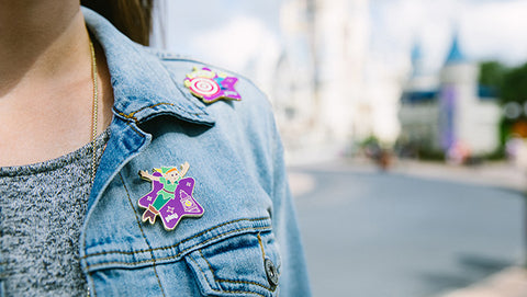 disney pin on clothes