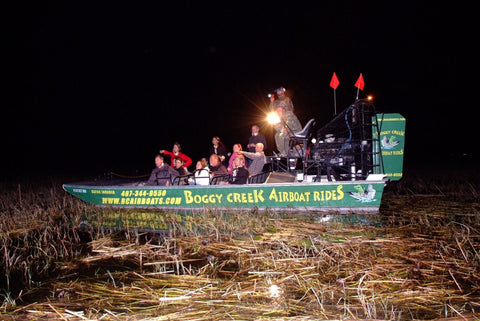 boggy creek airboat tour night
