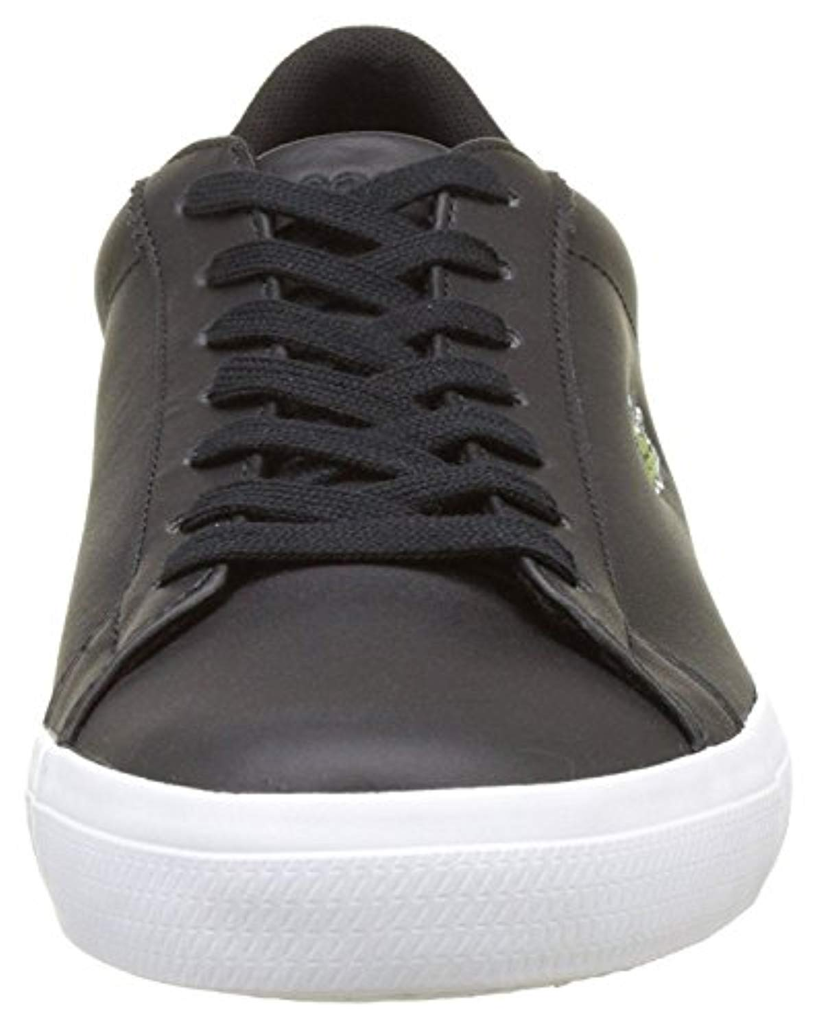 71eb64d34ae8 136 Lacoste Lerond BL 1 Cam Black White Leather Mens Trainers ...