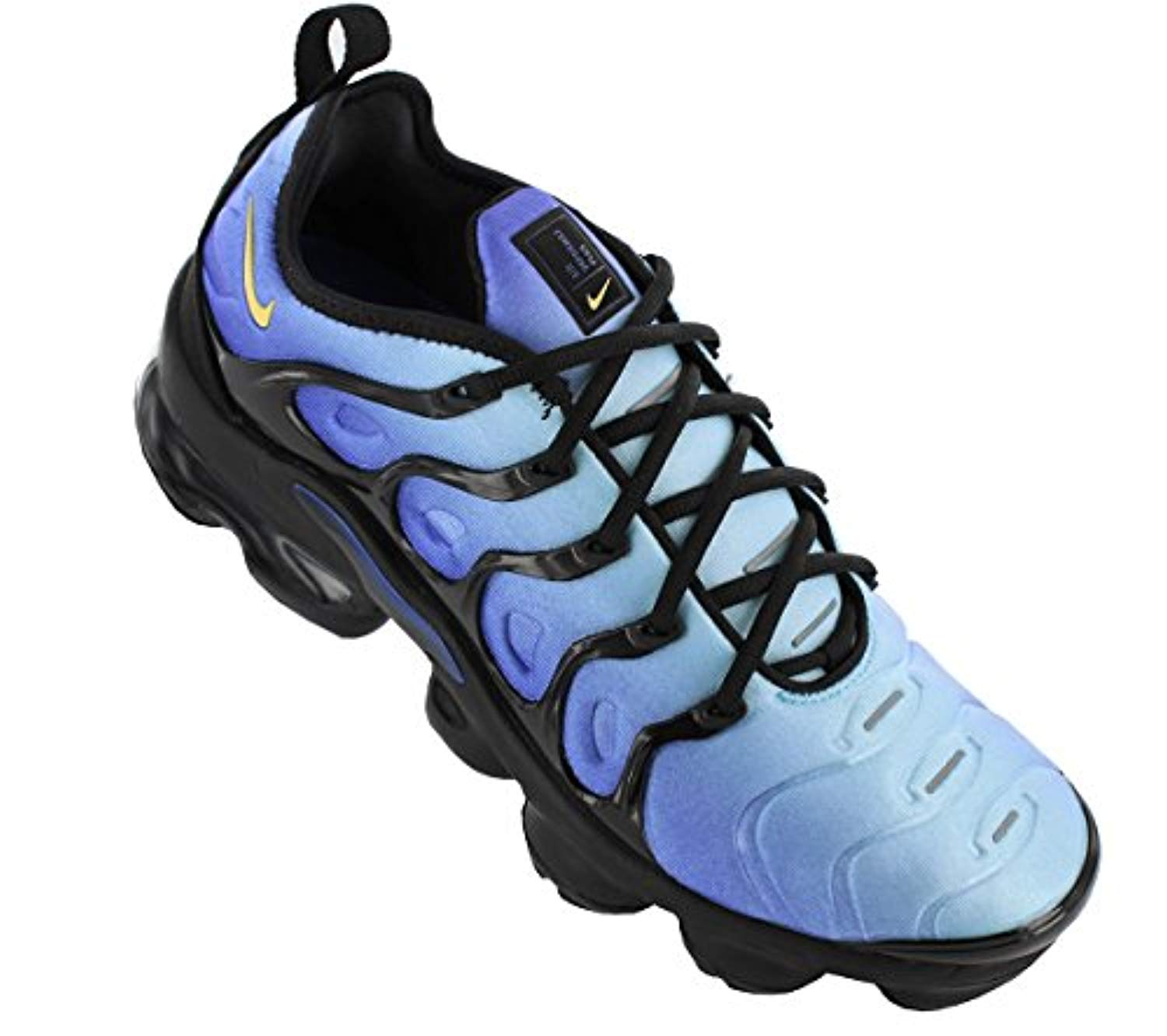 53023f18a684 310 NIKE Mens Air Vapormax Plus Black Hyper Blue – kicks closet nyc