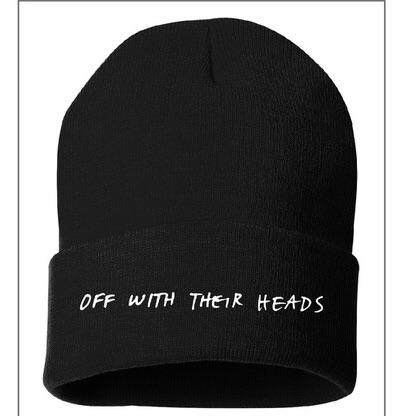 Off With Their Heads - Embroidered Beanie
