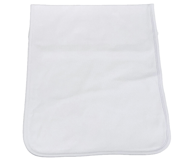 Personalized White Burp Cloth