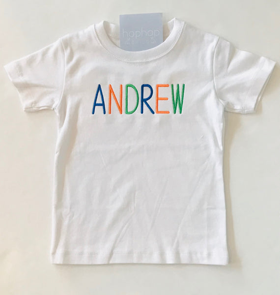 Personalized Boys Short Sleeve Shirt