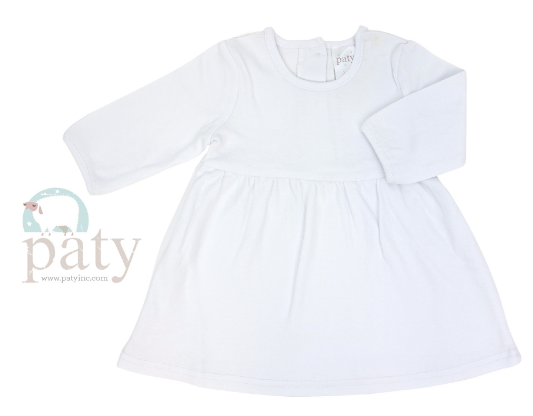 Paty White Long Sleeve Dress
